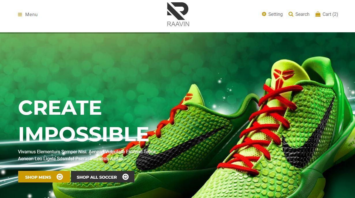 N-shoes shop - mẫu website bán giày onlien độc đáo