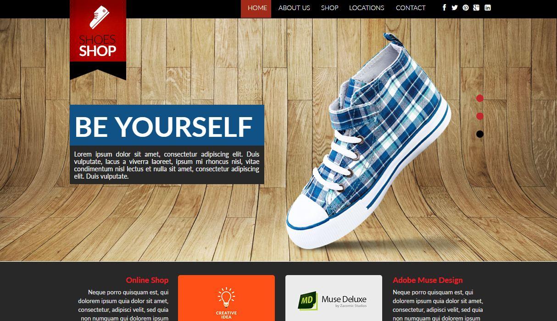 Shoes shop muse template
