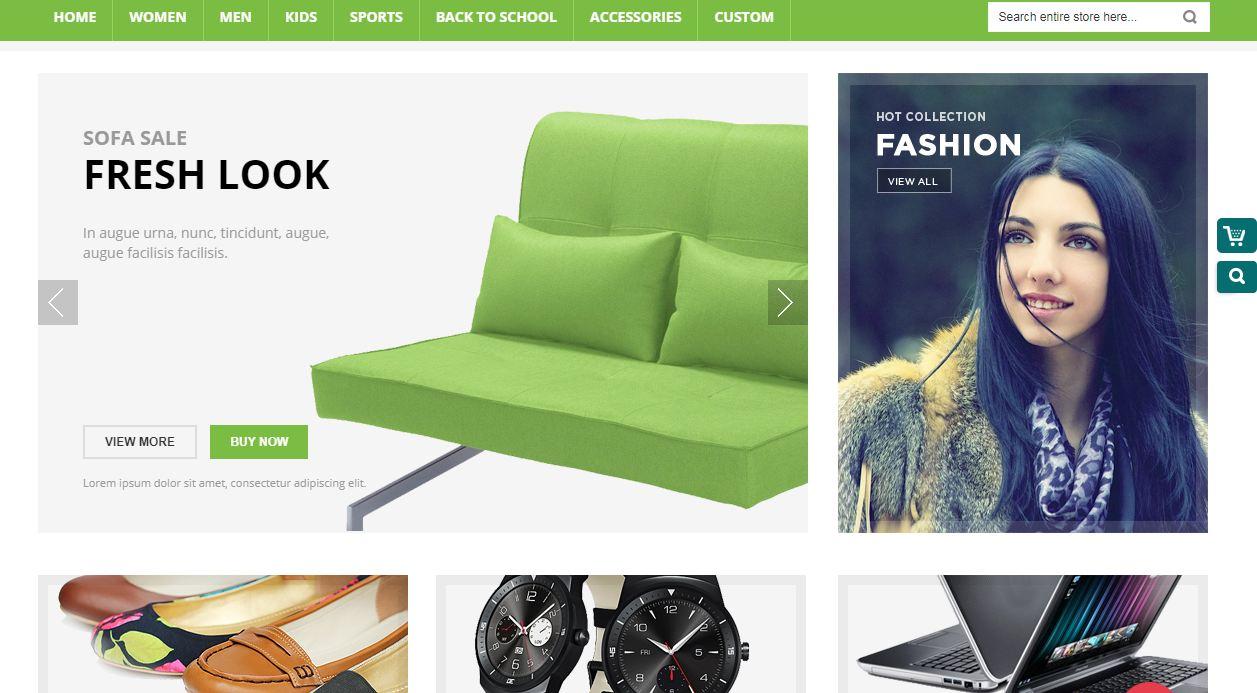 Sport shoes theme - mẫu website bán giày online và phụ kiện