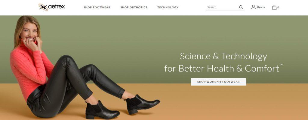 thương hiệu giày Aetrex